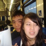 Winter Break: Amy Tran & I on the bus!